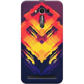 Oyehoye Asus Zenfone 2 Laser ZE550KL / Zenfone 5.5 Mobile Phone Back Cover With Abstract Art - Durable Matte Finish Hard Plastic Slim Case