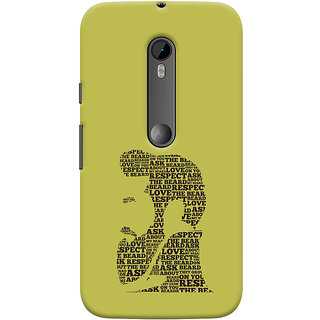 Oyehoye Motorola Moto G3 Mobile Phone Back Cover With Beard Love Quirky - Durable Matte Finish Hard Plastic Slim Case