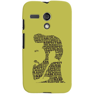 Oyehoye Motorola Moto G Mobile Phone Back Cover With Beard Love Quirky - Durable Matte Finish Hard Plastic Slim Case