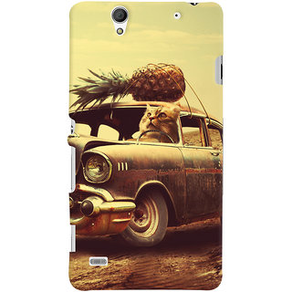 Oyehoye Sony Xperia C4 / Dual Sim Mobile Phone Back Cover With Vintage Car - Durable Matte Finish Hard Plastic Slim Case