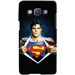 Oyehoye Samsung Galaxy A7 (2015) Mobile Phone Back Cover With Superman - Durable Matte Finish Hard Plastic Slim Case