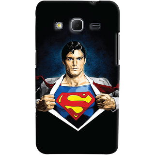 Oyehoye Samsung Galaxy Core Prime G360 Mobile Phone Back Cover With Superman - Durable Matte Finish Hard Plastic Slim Case