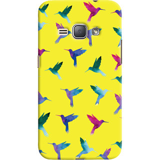 Oyehoye Samsung Galaxy J1 (2016 Edition) Mobile Phone Back Cover With Bird Pattern - Durable Matte Finish Hard Plastic Slim Case