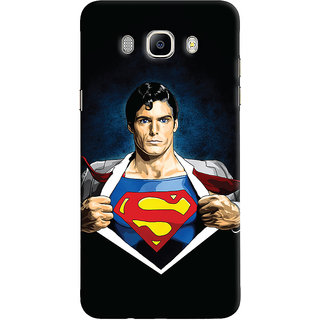 Oyehoye Samsung Galaxy J5 (2016) Mobile Phone Back Cover With Superman - Durable Matte Finish Hard Plastic Slim Case