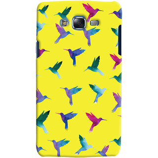 Oyehoye Samsung Galaxy J5 Mobile Phone Back Cover With Bird Pattern - Durable Matte Finish Hard Plastic Slim Case