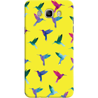 Oyehoye Samsung Galaxy J7 (2016) Mobile Phone Back Cover With Bird Pattern - Durable Matte Finish Hard Plastic Slim Case