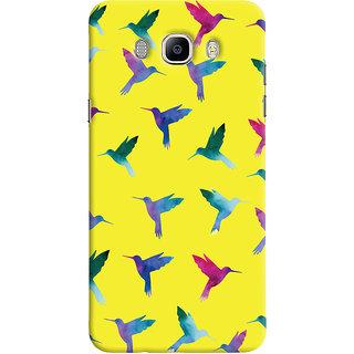 Oyehoye Samsung Galaxy J7 (2016) Mobile Phone Back Cover With Bird Pattern - Durable Matte Finish Hard Plastic Slim Case