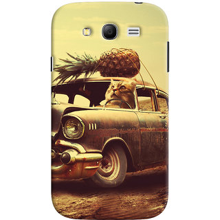 Oyehoye Samsung Galaxy Grand Neo Plus Mobile Phone Back Cover With Vintage Car - Durable Matte Finish Hard Plastic Slim Case