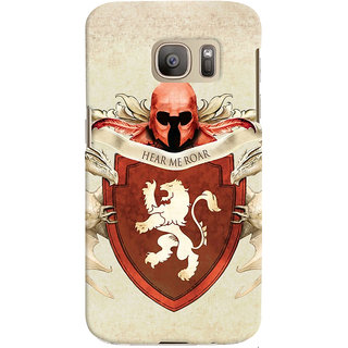 Oyehoye Samsung Galaxy S7 Edge Mobile Phone Back Cover With Game Of Thrones - Durable Matte Finish Hard Plastic Slim Case