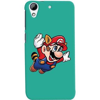 Oyehoye HTC Desire 626 / 626 G Plus Mobile Phone Back Cover With Super Mario - Durable Matte Finish Hard Plastic Slim Case