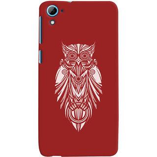 Oyehoye HTC Desire 826/Dual Sim Mobile Phone Back Cover With Animal Print Owl - Durable Matte Finish Hard Plastic Slim Case