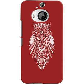 Oyehoye HTC One M9 Plus Mobile Phone Back Cover With Animal Print Owl - Durable Matte Finish Hard Plastic Slim Case