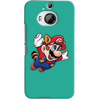 Oyehoye HTC One M9 Plus Mobile Phone Back Cover With Super Mario - Durable Matte Finish Hard Plastic Slim Case