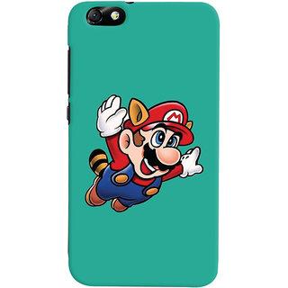 Oyehoye Huawei Honor 4X / Dual Sim / Glory Play Mobile Phone Back Cover With Super Mario - Durable Matte Finish Hard Plastic Slim Case