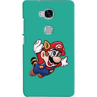 Oyehoye Huawei Honor 5X / Dual Sim Mobile Phone Back Cover With Super Mario - Durable Matte Finish Hard Plastic Slim Case