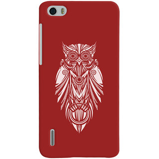 Oyehoye Huawei Honor 6 / Dual Sim Mobile Phone Back Cover With Animal Print Owl - Durable Matte Finish Hard Plastic Slim Case