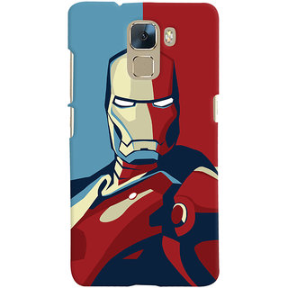 Oyehoye Huawei Honor 7 / Dual Sim / Enhanced Edition Mobile Phone Back Cover With Iron Man - Durable Matte Finish Hard Plastic Slim Case