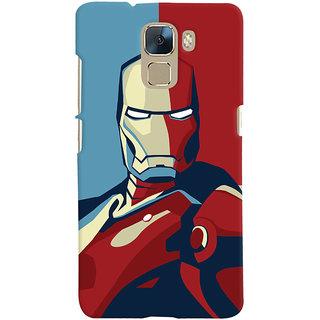 Oyehoye Huawei Honor 7 / Dual Sim / Enhanced Edition Mobile Phone Back Cover With Iron Man - Durable Matte Finish Hard Plastic Slim Case