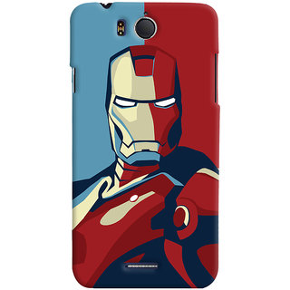 Oyehoye Infocus M530 Mobile Phone Back Cover With Iron Man - Durable Matte Finish Hard Plastic Slim Case