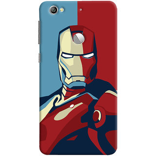 Oyehoye LeEco LE1S Mobile Phone Back Cover With Iron Man - Durable Matte Finish Hard Plastic Slim Case
