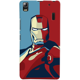 Oyehoye Lenovo K3 Note / A7000 Turbo Mobile Phone Back Cover With Iron Man - Durable Matte Finish Hard Plastic Slim Case