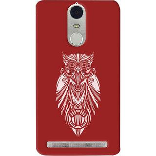 Oyehoye Lenovo K5 Note Mobile Phone Back Cover With Animal Print Owl - Durable Matte Finish Hard Plastic Slim Case