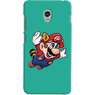 Oyehoye Lenovo Vibe P1 Mobile Phone Back Cover With Super Mario - Durable Matte Finish Hard Plastic Slim Case