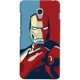 Oyehoye Lenovo Vibe P1 Mobile Phone Back Cover With Iron Man - Durable Matte Finish Hard Plastic Slim Case