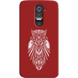 Oyehoye LG G2 / Optimus G2 Mobile Phone Back Cover With Animal Print Owl - Durable Matte Finish Hard Plastic Slim Case