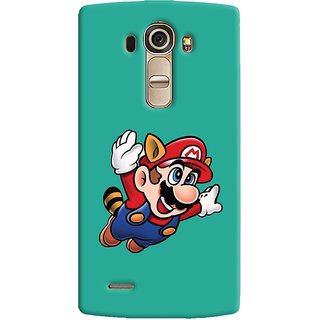 Oyehoye LG G4 H818N Mobile Phone Back Cover With Super Mario - Durable Matte Finish Hard Plastic Slim Case