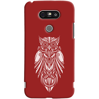 Oyehoye LG G5 / Optimus G5 Mobile Phone Back Cover With Animal Print Owl - Durable Matte Finish Hard Plastic Slim Case