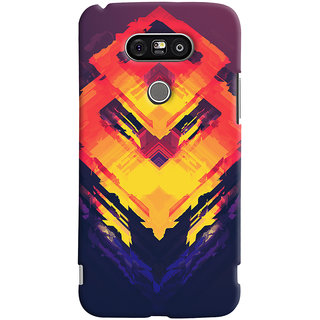 Oyehoye LG G5 / Optimus G5 Mobile Phone Back Cover With Abstract Art - Durable Matte Finish Hard Plastic Slim Case