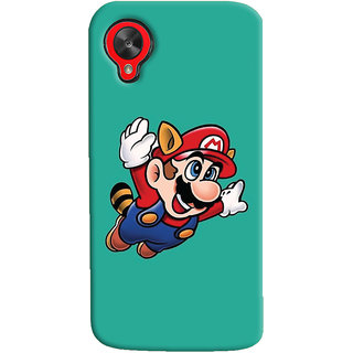 Oyehoye LG Google Nexus 5 Mobile Phone Back Cover With Super Mario - Durable Matte Finish Hard Plastic Slim Case