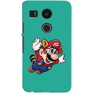 Oyehoye LG Google Nexus 5X New (2016 Edition) Mobile Phone Back Cover With Super Mario - Durable Matte Finish Hard Plastic Slim Case
