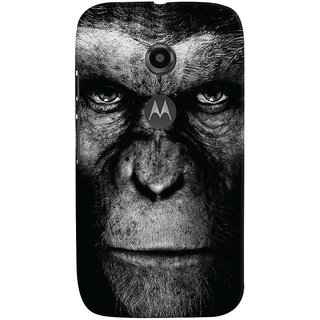 Oyehoye Motorola Moto E2 Mobile Phone Back Cover With Gorilla - Durable Matte Finish Hard Plastic Slim Case