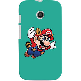Oyehoye Motorola Moto E Mobile Phone Back Cover With Super Mario - Durable Matte Finish Hard Plastic Slim Case