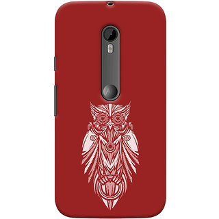 Oyehoye Motorola Moto G3 Mobile Phone Back Cover With Animal Print Owl - Durable Matte Finish Hard Plastic Slim Case