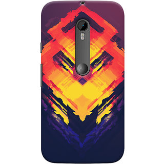 Oyehoye Motorola Moto G3 Mobile Phone Back Cover With Abstract Art - Durable Matte Finish Hard Plastic Slim Case