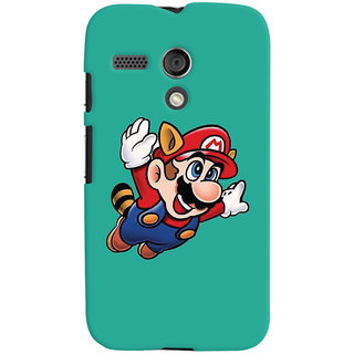 Oyehoye Motorola Moto G Mobile Phone Back Cover With Super Mario - Durable Matte Finish Hard Plastic Slim Case