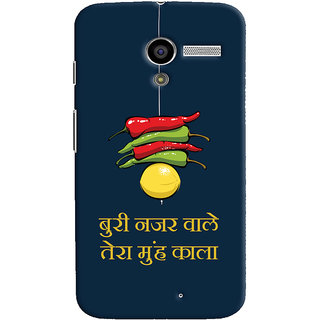 Oyehoye Motorola Moto X Mobile Phone Back Cover With Buri Nazar Wale Tera Muh Kala Quirky - Durable Matte Finish Hard Plastic Slim Case