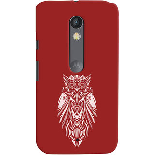 Oyehoye Motorola Moto X Play Mobile Phone Back Cover With Animal Print Owl - Durable Matte Finish Hard Plastic Slim Case