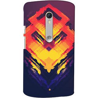 Oyehoye Motorola Moto X Style Mobile Phone Back Cover With Abstract Art - Durable Matte Finish Hard Plastic Slim Case