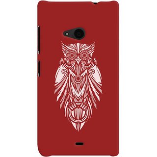 Oyehoye Microsoft Lumia 535 / Dual Sim Mobile Phone Back Cover With Animal Print Owl - Durable Matte Finish Hard Plastic Slim Case