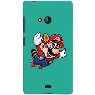 Oyehoye Microsoft Lumia 540 Mobile Phone Back Cover With Super Mario - Durable Matte Finish Hard Plastic Slim Case