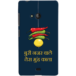 Oyehoye Microsoft Lumia 540 Mobile Phone Back Cover With Buri Nazar Wale Tera Muh Kala Quirky - Durable Matte Finish Hard Plastic Slim Case