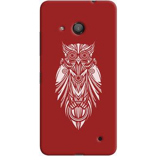 Oyehoye Microsoft Lumia 550 Mobile Phone Back Cover With Animal Print Owl - Durable Matte Finish Hard Plastic Slim Case