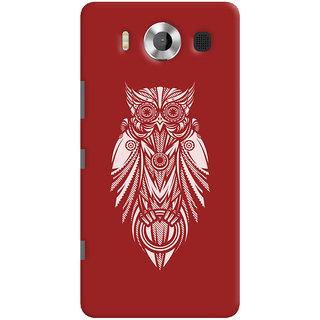 Oyehoye Microsoft Lumia 950 Mobile Phone Back Cover With Animal Print Owl - Durable Matte Finish Hard Plastic Slim Case