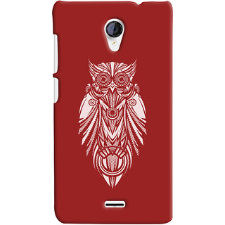 Oyehoye Micromax Unite 2 A106 Mobile Phone Back Cover With Animal Print Owl - Durable Matte Finish Hard Plastic Slim Case