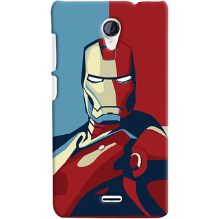 Oyehoye Micromax Unite 2 A106 Mobile Phone Back Cover With Iron Man - Durable Matte Finish Hard Plastic Slim Case
