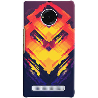Oyehoye Micromax Yuphoria Mobile Phone Back Cover With Abstract Art - Durable Matte Finish Hard Plastic Slim Case